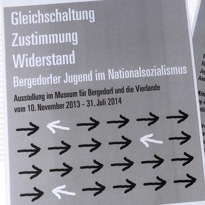 Werbemittel zur NS-Ausstellung, Museum für Bergedorf und die Vierlande